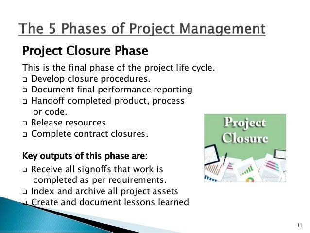 Celebrate project success! 12
