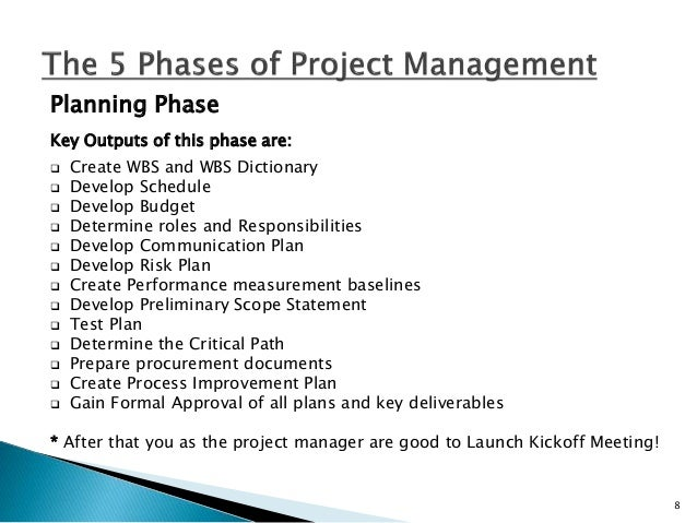 phases of project management This chapter provides a sketch of the traditional method of project management the model that is discussed here forms the basis for all methods of project management.
