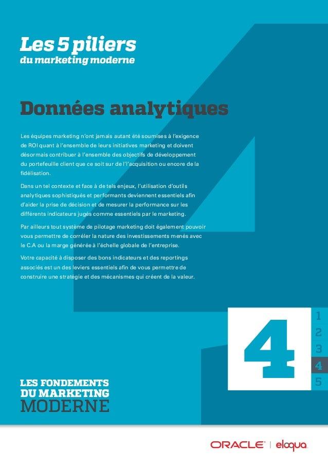 Les 5 piliers du marketing moderne Données analytiques Les équipes marketing n'ont jamais autant été soumises à l'exigence...