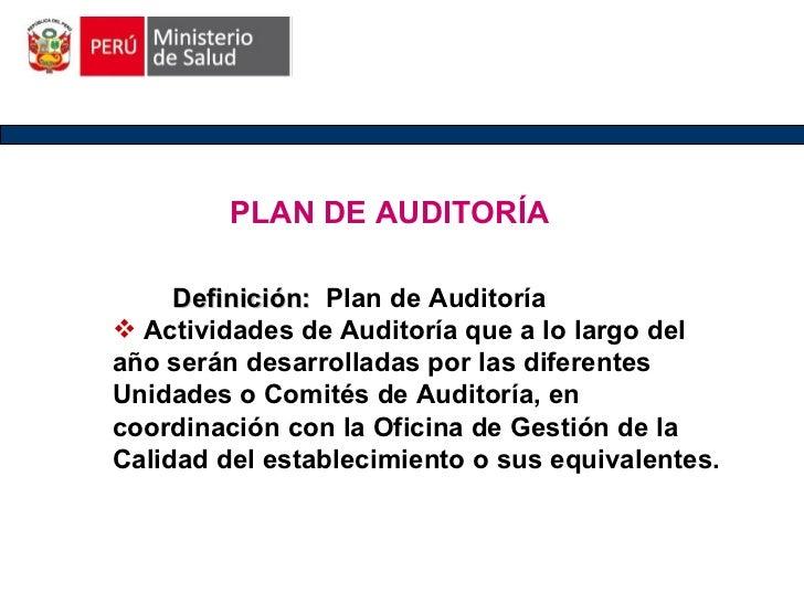 Plan de Auditoria Slide 2