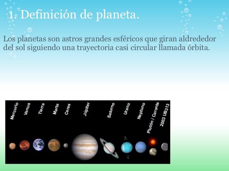 Planetas del Sistema Solar Slide 2