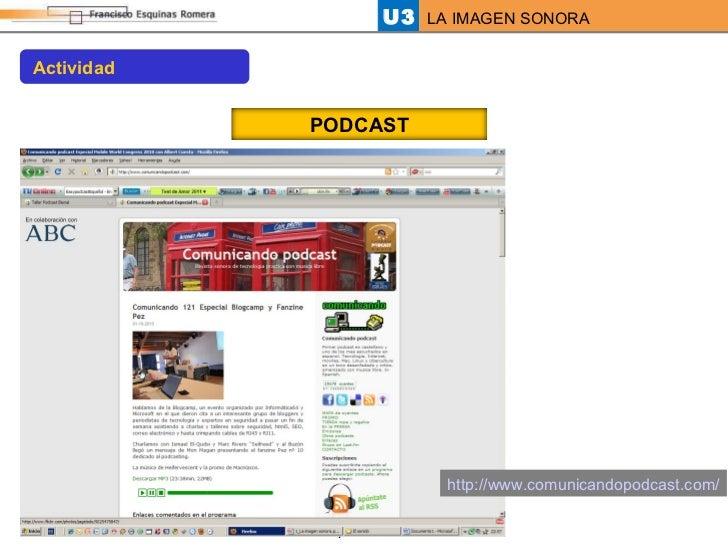 http://www.comunicandopodcast.com/ Actividad PODCAST