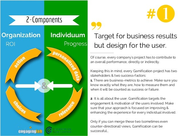#  Target for business results  but design for the user.  Of course, every company's project has to contribute to  an over...