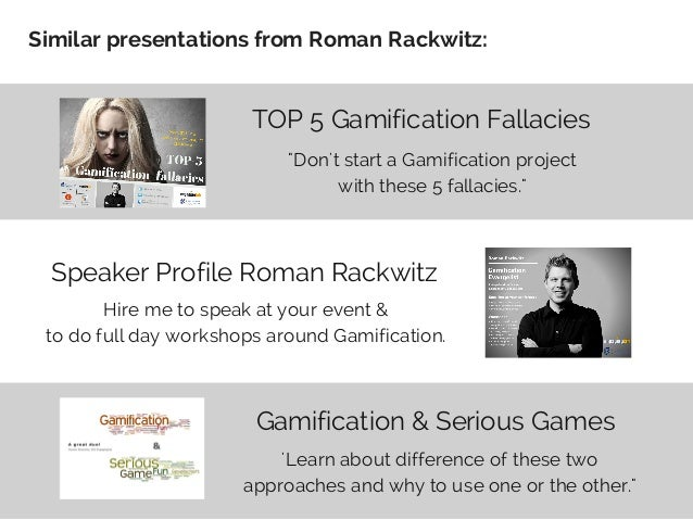 Top-5 points to guide your #Gamification effort