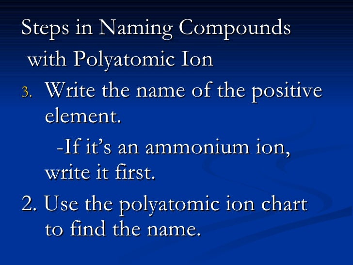 5 Polyatomic Ion Compounds