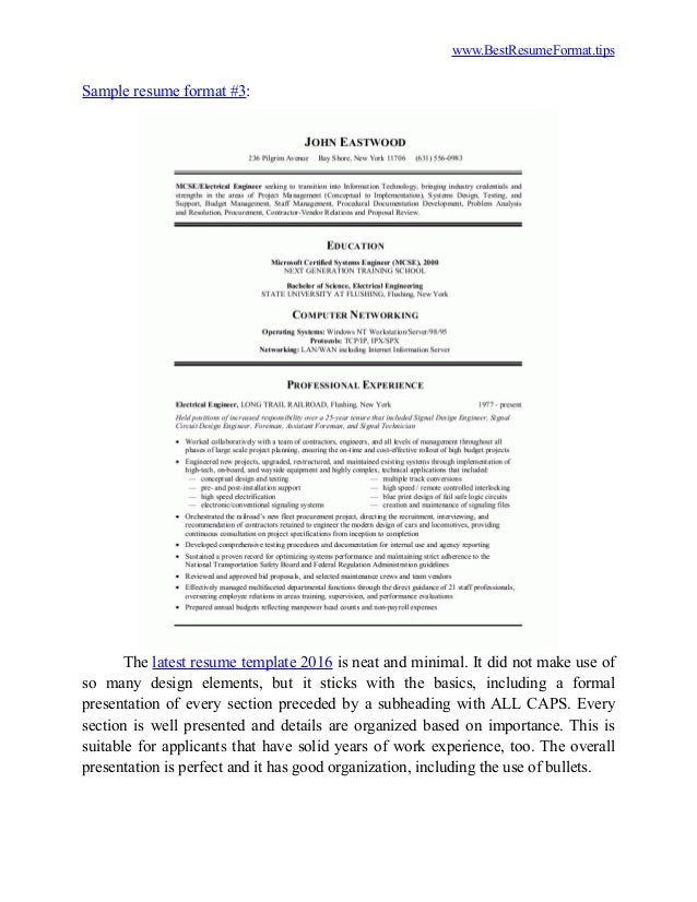 3. Www.BestResumeFormat.tips Sample Resume Format ...