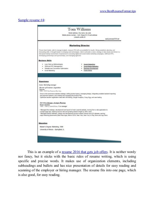 Amazing Resume Tips Resume Components 3 Popular Resume Formats That Get Job  Offers Ghanaphotos.us