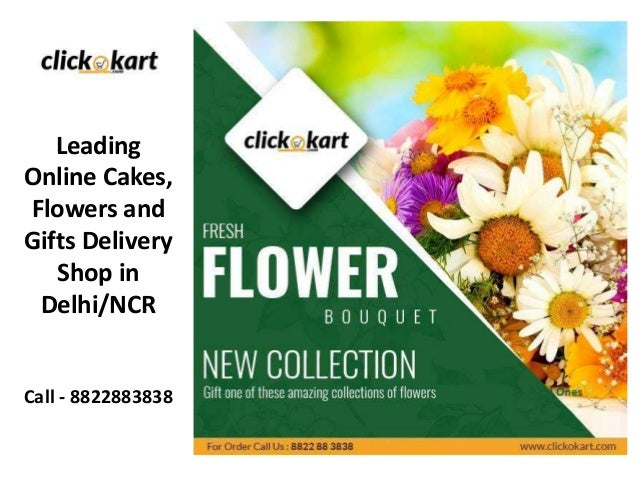Leading Online Cakes, Flowers and Gifts Delivery Shop in Delhi/NCR Call - 8822883838