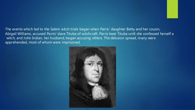 a rhetorical analysis of the salem witch trials Rhetorical analysis harper addison subject the subject of this article was the salem witchcraft trials main idea the main idea of this article was witchcraft and how it affected people and.