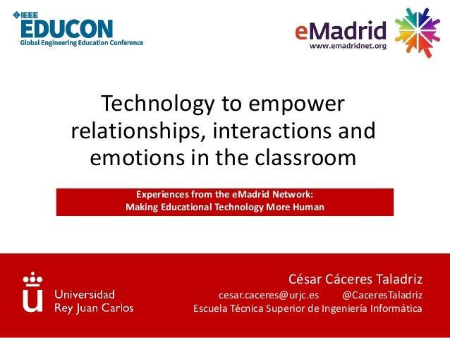 César Cáceres Taladriz cesar.caceres@urjc.es @CaceresTaladriz Escuela Técnica Superior de Ingeniería Informática Technolog...