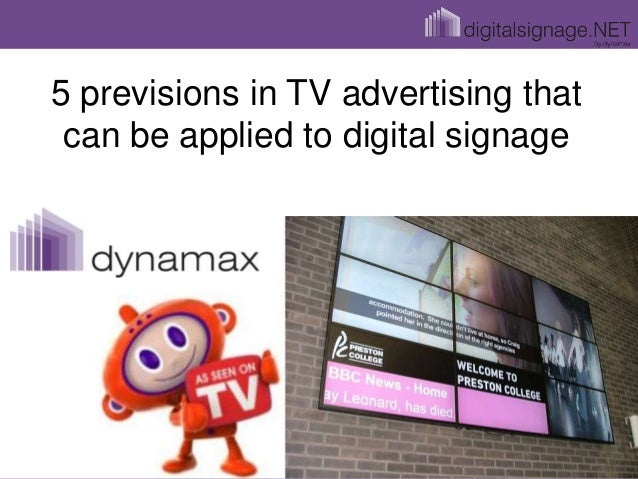 5 previsions in TV advertising that can be applied to digital signage