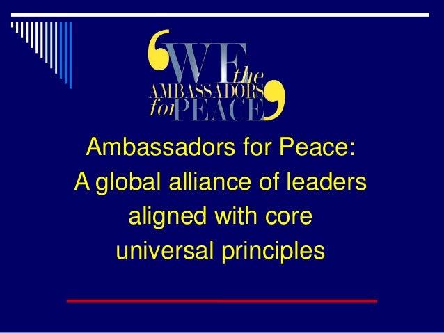 Ambassador for Peace Principles Slide 2