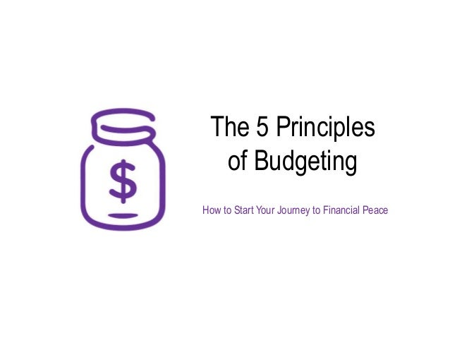 5 principles of effective budgeting
