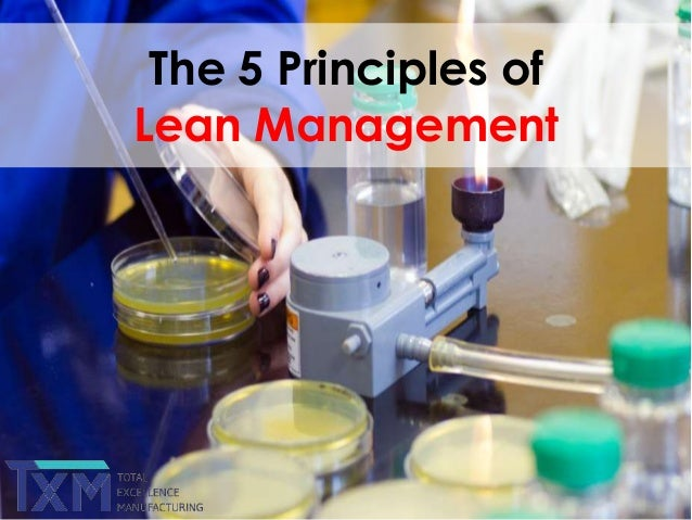 The 5 Principles of Lean Management