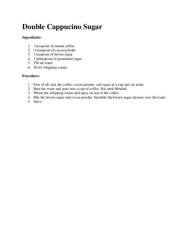 5 Procedure Text How To Make Coffee