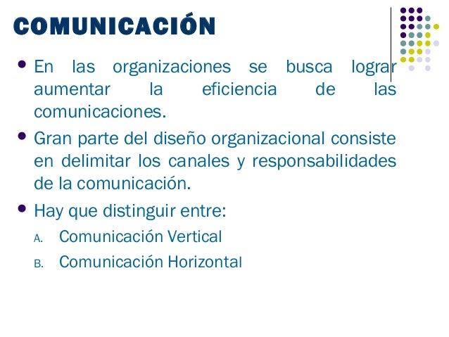 COMUNICACIÓN En   las organizaciones se busca lograr  aumentar       la    eficiencia   de      las  comunicaciones. Gra...
