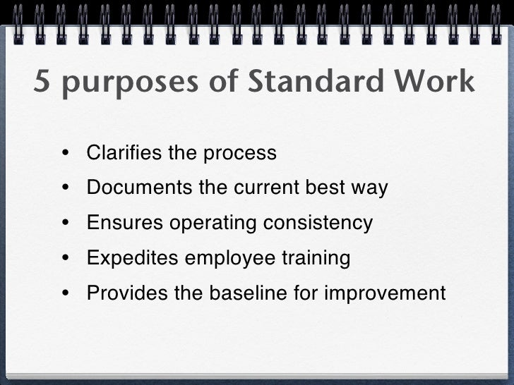 Standardized Work: The Foundation for Kaizen (1 Day Class)
