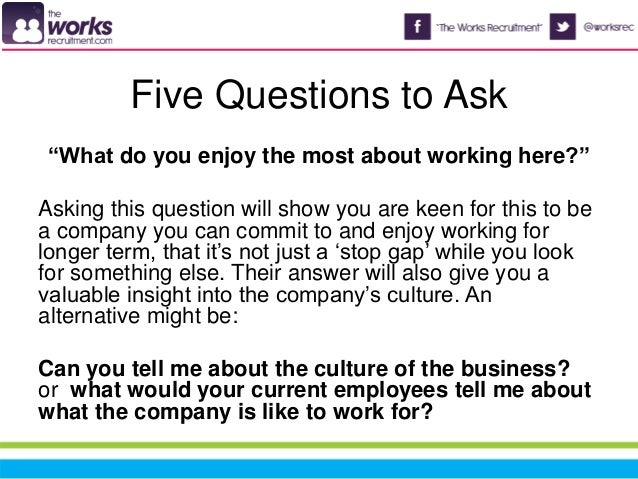 7. Five Questions To Ask U201cWhat Do You ...