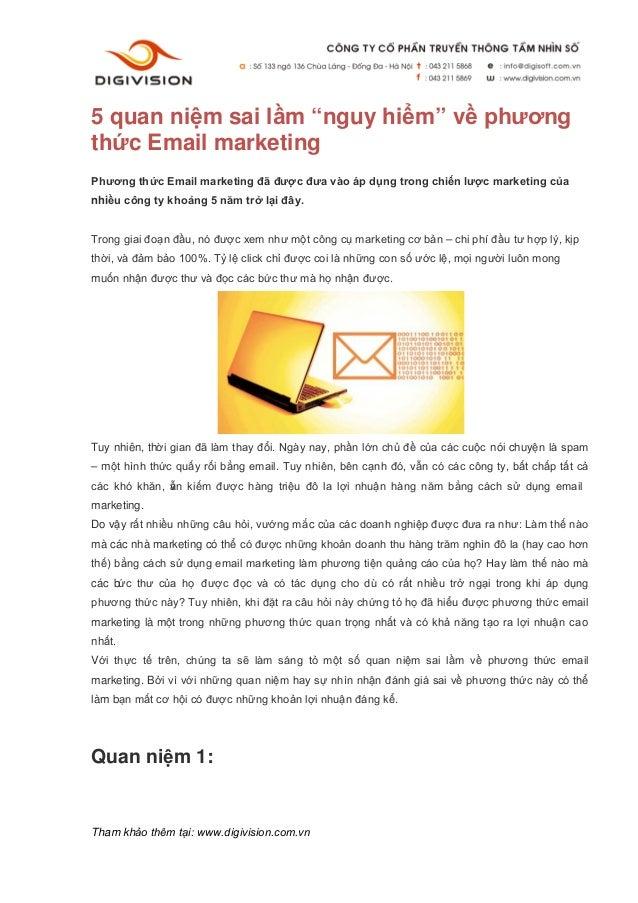 """5 quan niệm sai lầm """"nguy hiểm"""" về phươngthức Email marketingPhương thức Email marketing đã được đưa vào áp dụng trong chi..."""