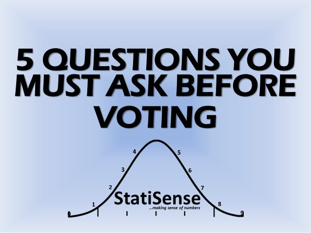 5 QUESTIONS YOU MUST ASK BEFORE VOTING