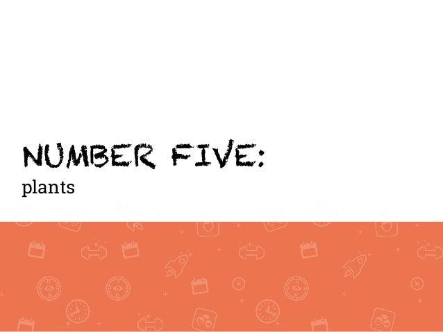 NUMBER FIVE: plants