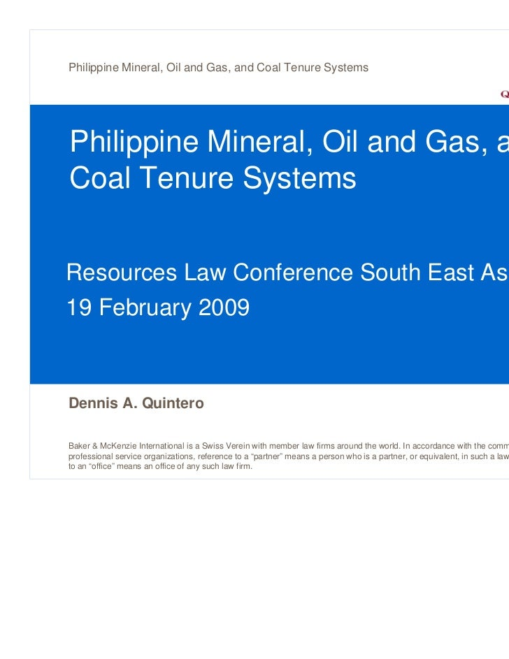 Philippine Mineral, Oil and Gas, and Coal Tenure SystemsPhilippine Mineral, Oil and Gas, andCoal Tenure SystemsResources L...