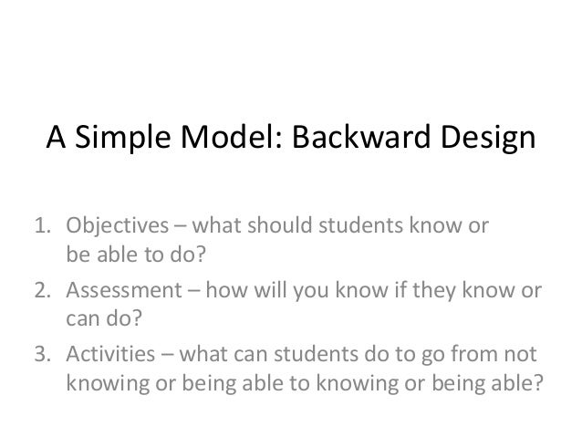 5R Open Aligned Design 1. Objectives – what should students know or be able to do? 2. Activities – what can students do to...
