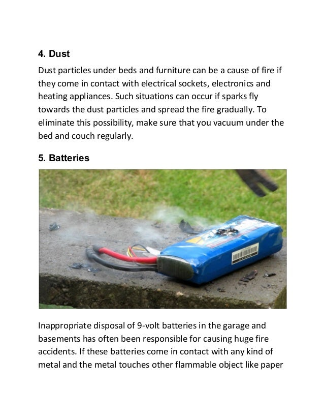 5 Rarely Known Factors Responsible for Causing a Home Fire Slide 3