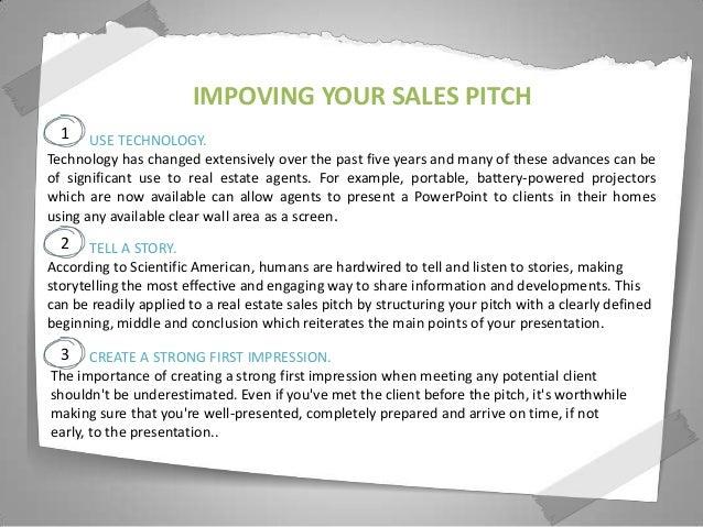 Real estate sales presentation