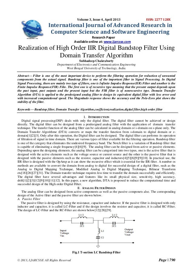 Volume 3, Issue 4, April 2013  ISSN: 2277 128X  International Journal of Advanced Research in Computer Science and Softwar...