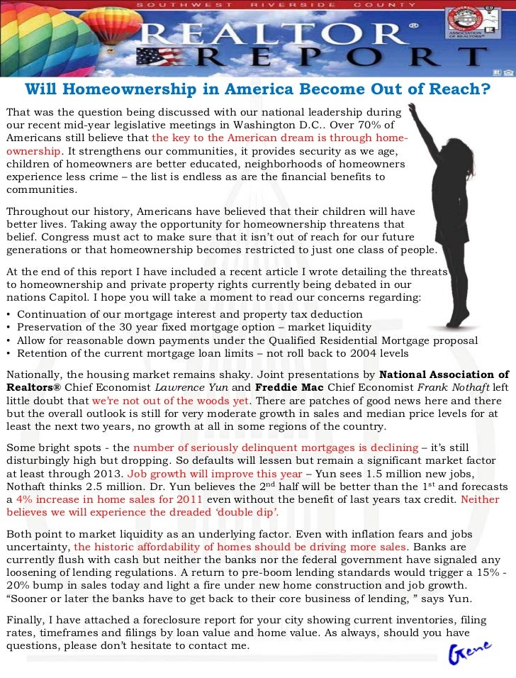 Will Homeownership in America Become Out of Reach?That was the question being discussed with our national leadership durin...