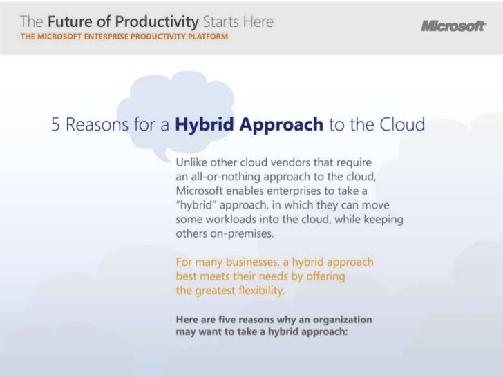 5 Reasons for a Hybrid Approach to the Cloud
