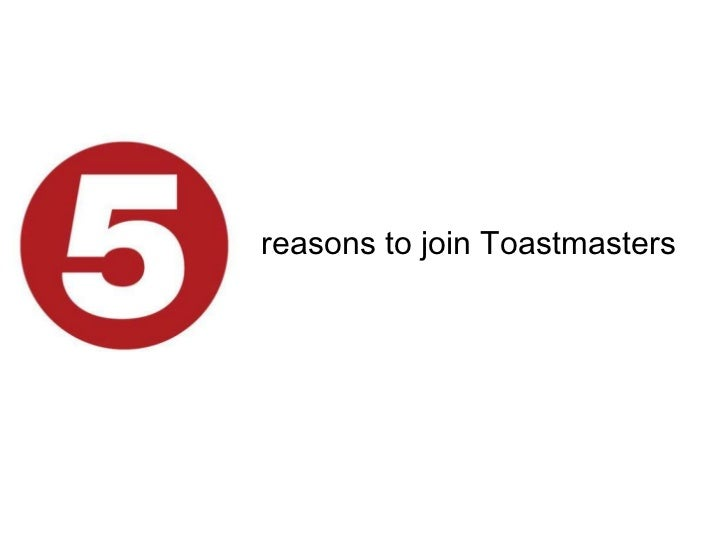 reasons to join Toastmasters