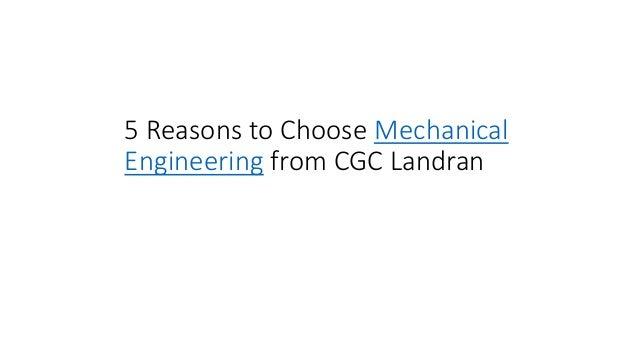 5 Reasons to Choose Mechanical Engineering from CGC Landran