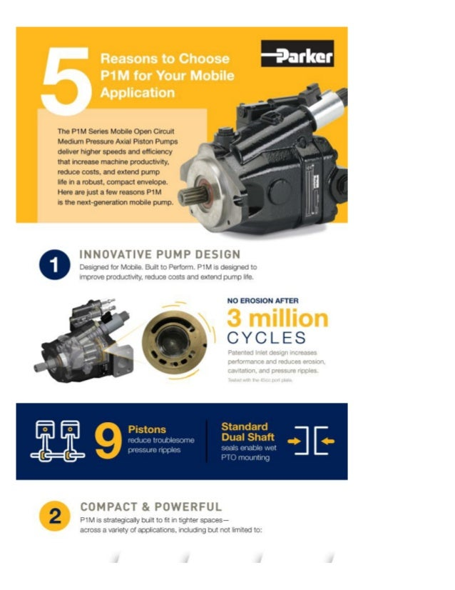 5 Reasons to Choose Axial Piston Pump for Mobile Application   infographic