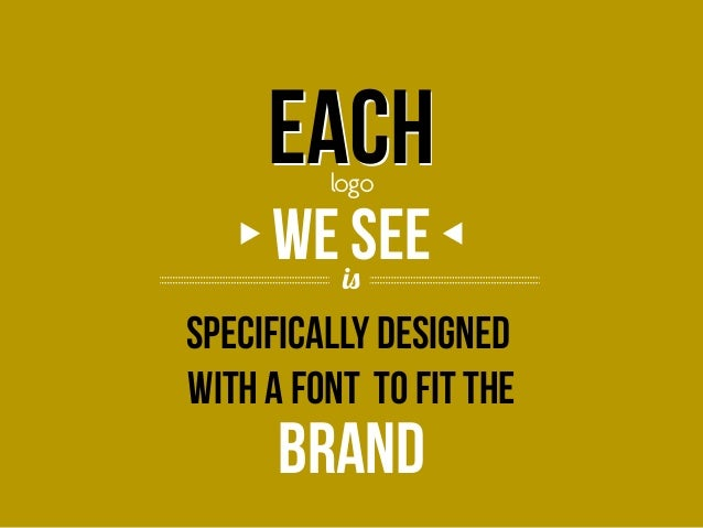 Each logo  we issee Specifically designed with a font to fit the  brand