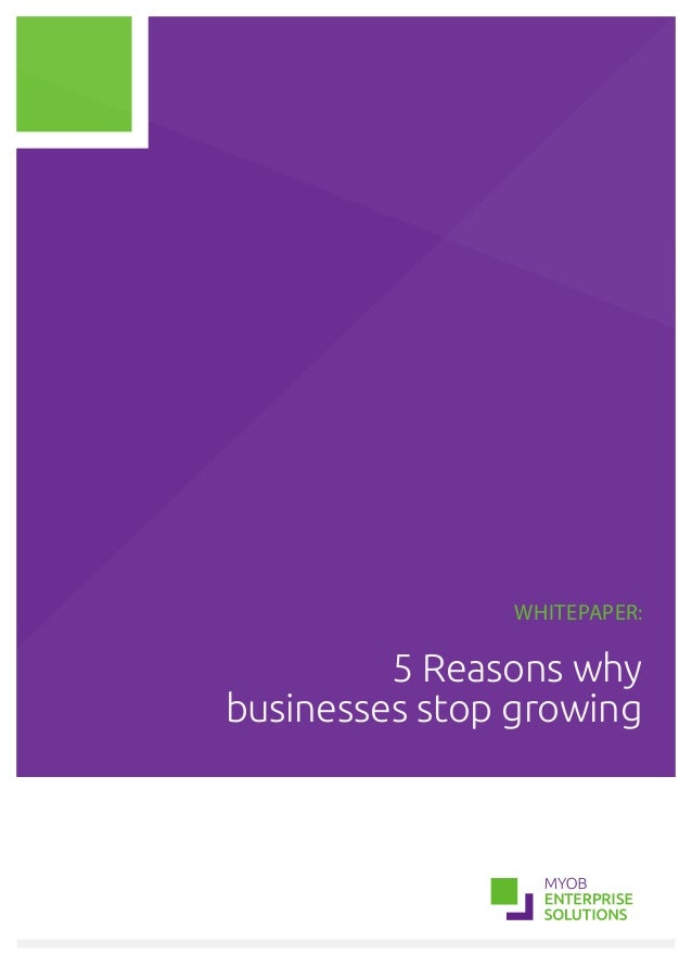 Whitepaper: 5 Reasons why businesses stop growing