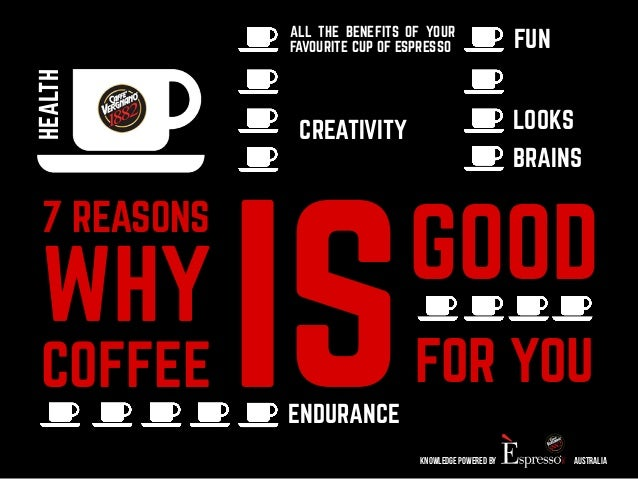 FUN ALL THE BENEFITS OF YOUR  FAVOURITE CUP OF ESPRESSO  LOOKS  BRAINS  7 REASONS  WHY  ISGOOD  COFFEEFOR YOU  knowledge p...