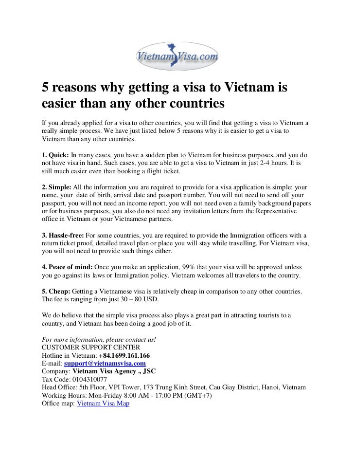 5 reasons why getting a visa to vietnam is easier than any other coun…