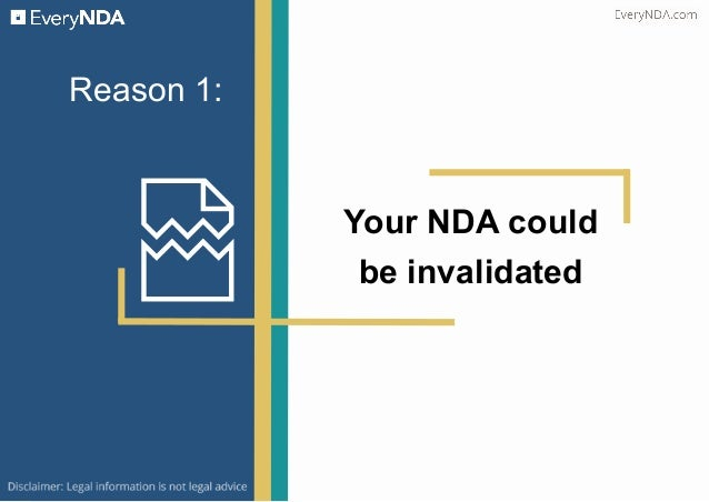 5 Reasons Why Your NDA is Not Enough Slide 2