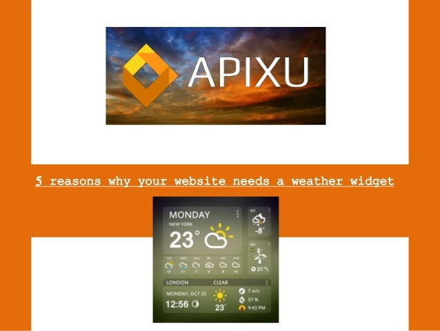 how to add a weather widget to a website
