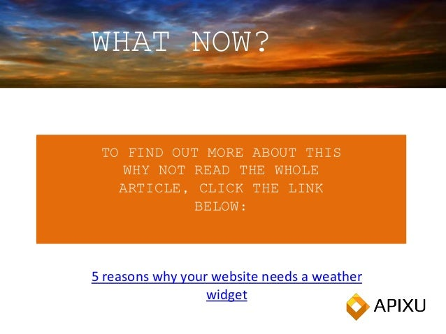 5 reasons why your website needs a weather widget