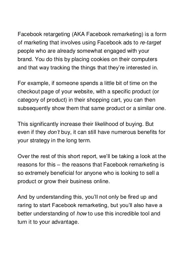 5 reasons you should use facebook remarketing Slide 2