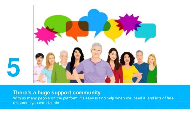 There's a huge support community With so many people on the platform, it's easy to find help when you need it, and lots of...
