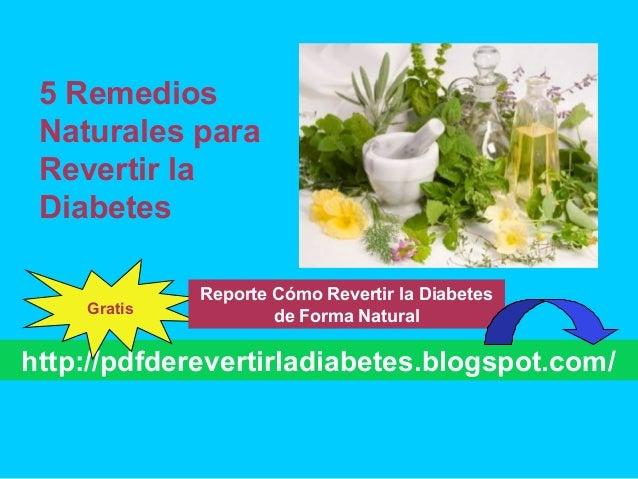 5 remedios naturales para revertir la diabetes