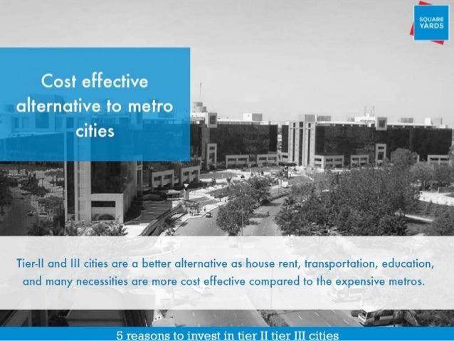 Benefits of Investing in Tier II, III cities  Slide 2