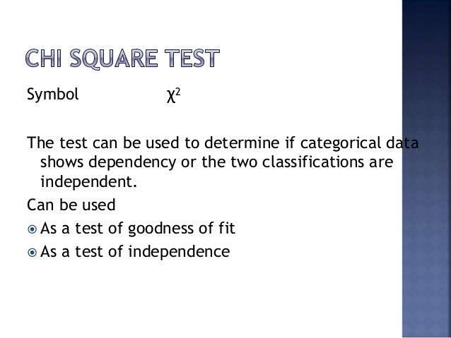 Research Methodology Chi Square Test