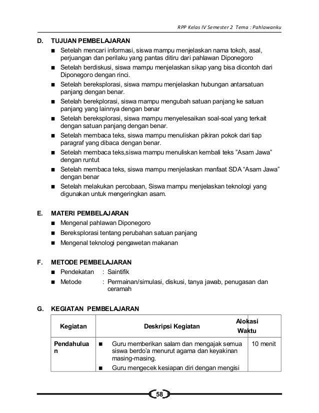 Rpp Ipa Kelas 6 Sd Tentang Gaya Dan Gerak 5 Rpp Sd Kelas Pahlawanku Rencana Pelaksanaan
