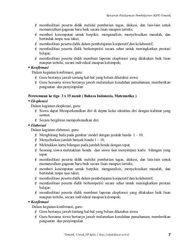 5 Rpp Tematik 1