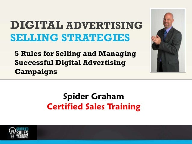 DIGITAL ADVERTISING    SELLING STRATEGIES                 photo    5 Rules for Selling and Managing    Successful Digital ...